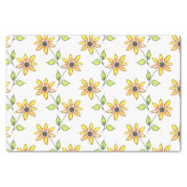 Watercolor Sunflowers Pattern Tissue Paper