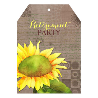 Watercolor Sunflowers Retirement Party Card