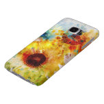Watercolor Sunflowers Samsung Galaxy S6 Cases