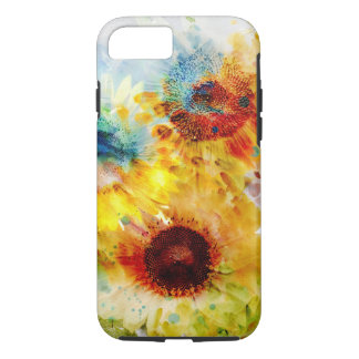 Watercolor Sunflowers Tough iPhone 7 Case