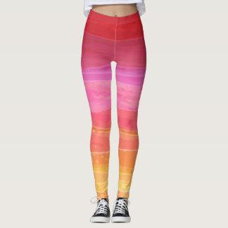 Watercolor Sunrise Leggings