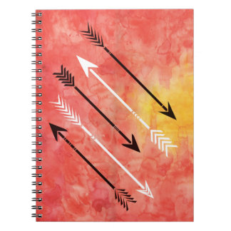 Watercolor Sunset Arrows Sketchbook Journal