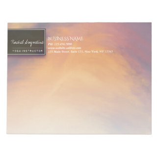 Watercolor Sunset Sky YOGA Meditation Instructor Notepad