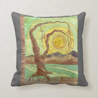 Watercolor Surreal Landscape Art Throw Pillow