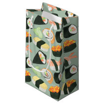 Watercolor Sushi Pattern Small Gift Bag