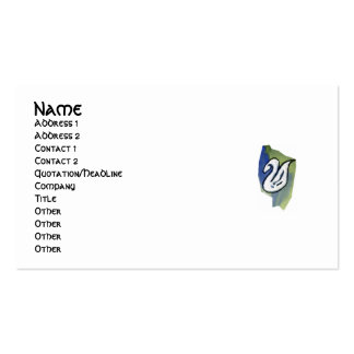 WATERCOLOR SWAN profile card Business Card Templates