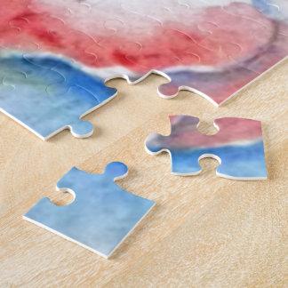 Watercolor Sweetpea Flower Art Puzzle