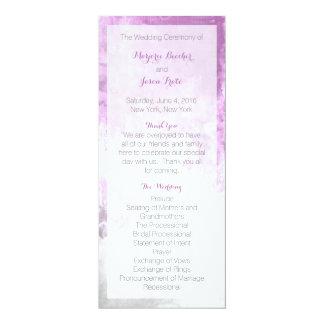 Watercolor Swirl Wedding Program Purple