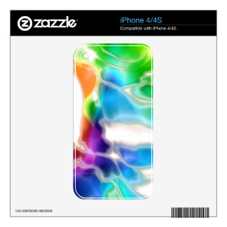 Watercolor Swirls 3 Skins For iPhone 4