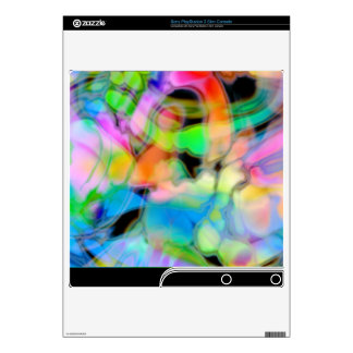 Watercolor Swirls 4 Decal For PS3 Slim