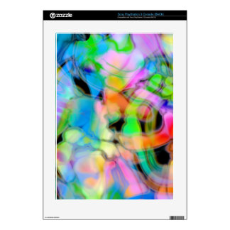Watercolor Swirls 4 Skin For PS3 Console
