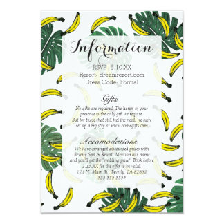 Watercolor Swiss Cheese Plant and Bananas Card
