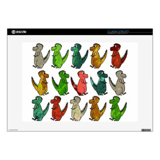 """Watercolor T-Rex Dinosaur Print Decals For 15"""" Laptops"""