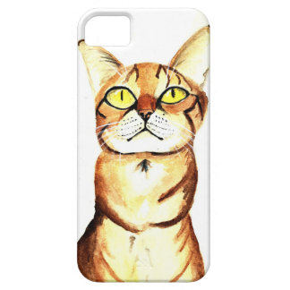 Watercolor Tabby Cat iPhone Case