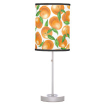 Watercolor tangerines table lamp