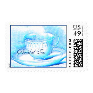 Watercolor Teacup Bridal Shower Postage