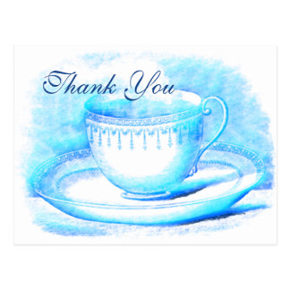 Watercolor Teacup Thank You Cards