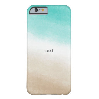 Watercolor Teal & Tan Elegant Beach Tropical Barely There iPhone 6 Case