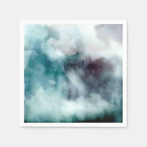 Watercolor Teals - All Options Paper Napkin