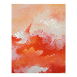 Watercolor Texture Fire and Water Letterhead