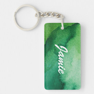 Watercolor texture keychain