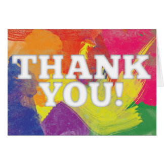 Watercolor Thank You Card (Rainbow-Colored)