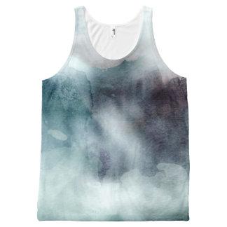 Watercolor tie dye tye dye hipster blue nautical All-Over-Print tank top