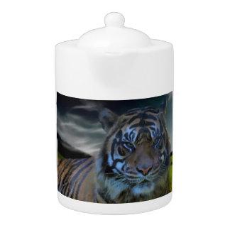 Watercolor Tiger Big Cat Fantasy