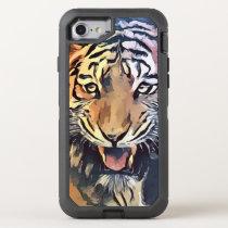 Watercolor tiger phone case
