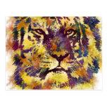 Watercolor Tiger Postcard