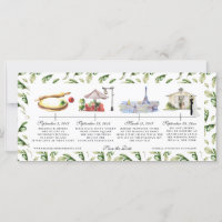 Watercolor Timeline Wedding Save the Date