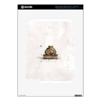 Watercolor Toad Skin For iPad 3