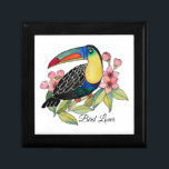 """Watercolor Toucan Bird With Flowers Gift Box<br><div class=""""desc"""">Watercolor gorgeous Toucan bird with cherry blossom. Beautiful and fun bird design created for bird lovers, nature lovers, animal lovers and also suitable for anyone who loves character designs. Can be a perfect gift. Easily customize it with different words (birthdays, anniversaries, occasions, parties etc), names, background color or just enjoy...</div>"""