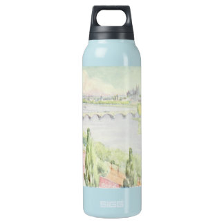 Watercolor Tours France Insulated Water Bottle