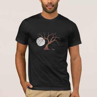 Watercolor Tree and Moon Dark Shirt