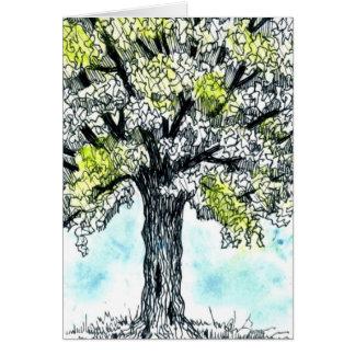 Watercolor Tree Blank Notecard
