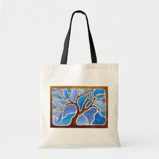 Watercolor Tree in Blue - Tote Bag
