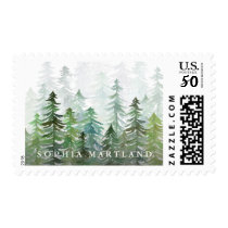 watercolor tree name postage