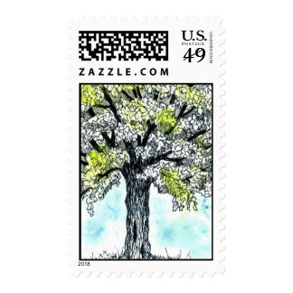 Watercolor Tree Stamps
