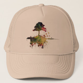 Watercolor Tree Trucker Hat