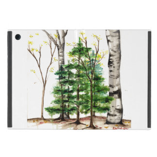watercolor trees ipad mini case