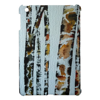 Watercolor Trees with color iPad Mini Cover