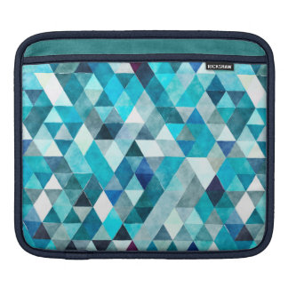 Watercolor Triangles Blue iPad Sleeve