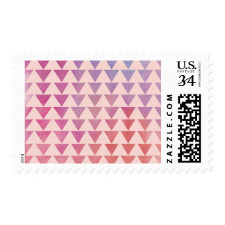 Watercolor Triangles Pattern Postage