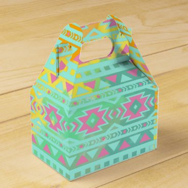 Aztec Themed Watercolor Tribal Chic Aztec Geometric Favor Box