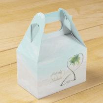 Watercolor Tropical Beach Wedding Favor Box