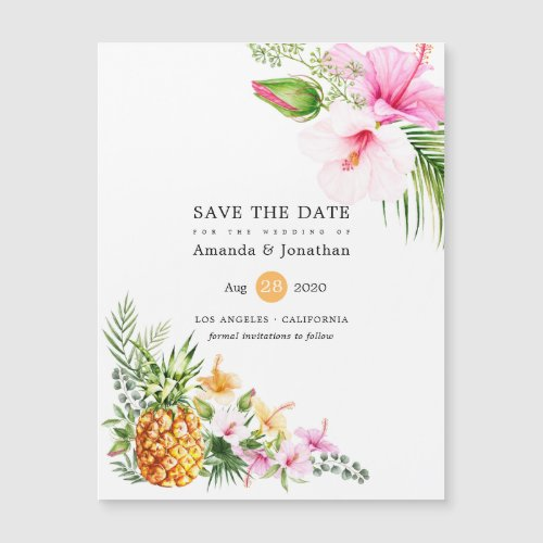 Watercolor Tropical Floral Beach Wedding