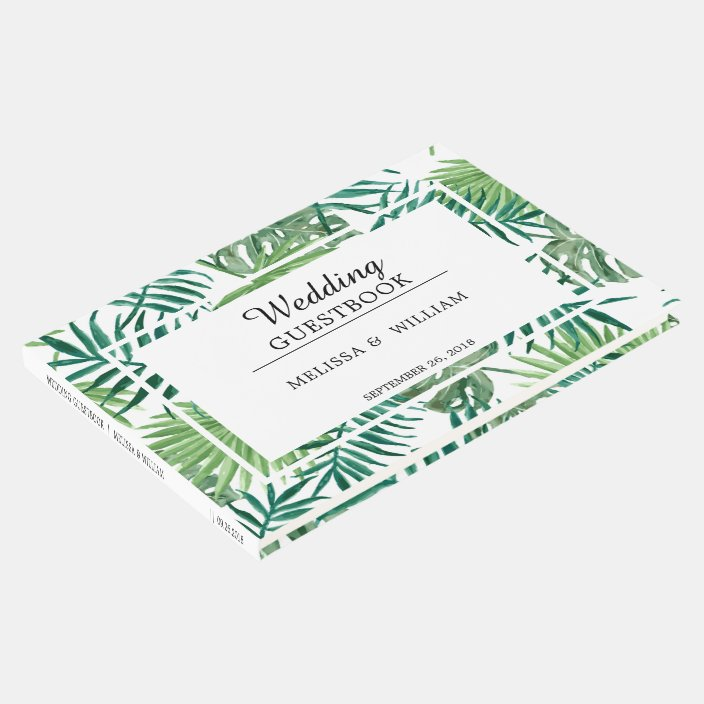 Watercolor Tropical Leaves Bride And Groom Wedding Guest Book Zazzle Com 01.06.2017 · tropical leaves are the perfect way to transform your home into an island oasis and there are plenty of ways many tropical flowers have names that are as intriguing as the plants themselves. zazzle