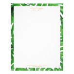 Watercolor Tropical Monstera Leaves Pattern Letterhead<br><div class='desc'>Coordinates with the Watercolor Tropical Monstera Leaves Pattern Business Card Template by 1201AM. An elegant tropical motif of watercolor monstera leaves becomes an eye-catching border pattern on this personalized letterhead. Art and design &#169; 1201AM Design Studio   www.1201am.com</div>