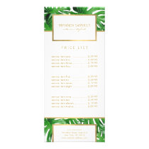 Watercolor Tropical Monstera Leaves Pattern Rack Card